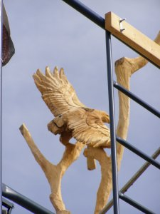 Black Maple Chainsaw carving Grey Silo Waterloo Ontario