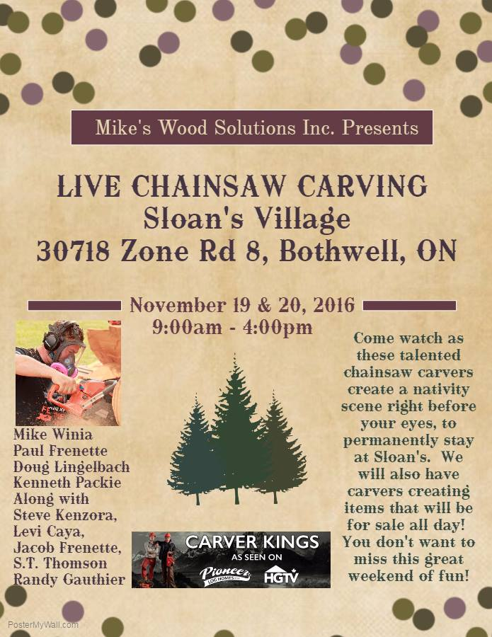 chainsaw carving shows and events