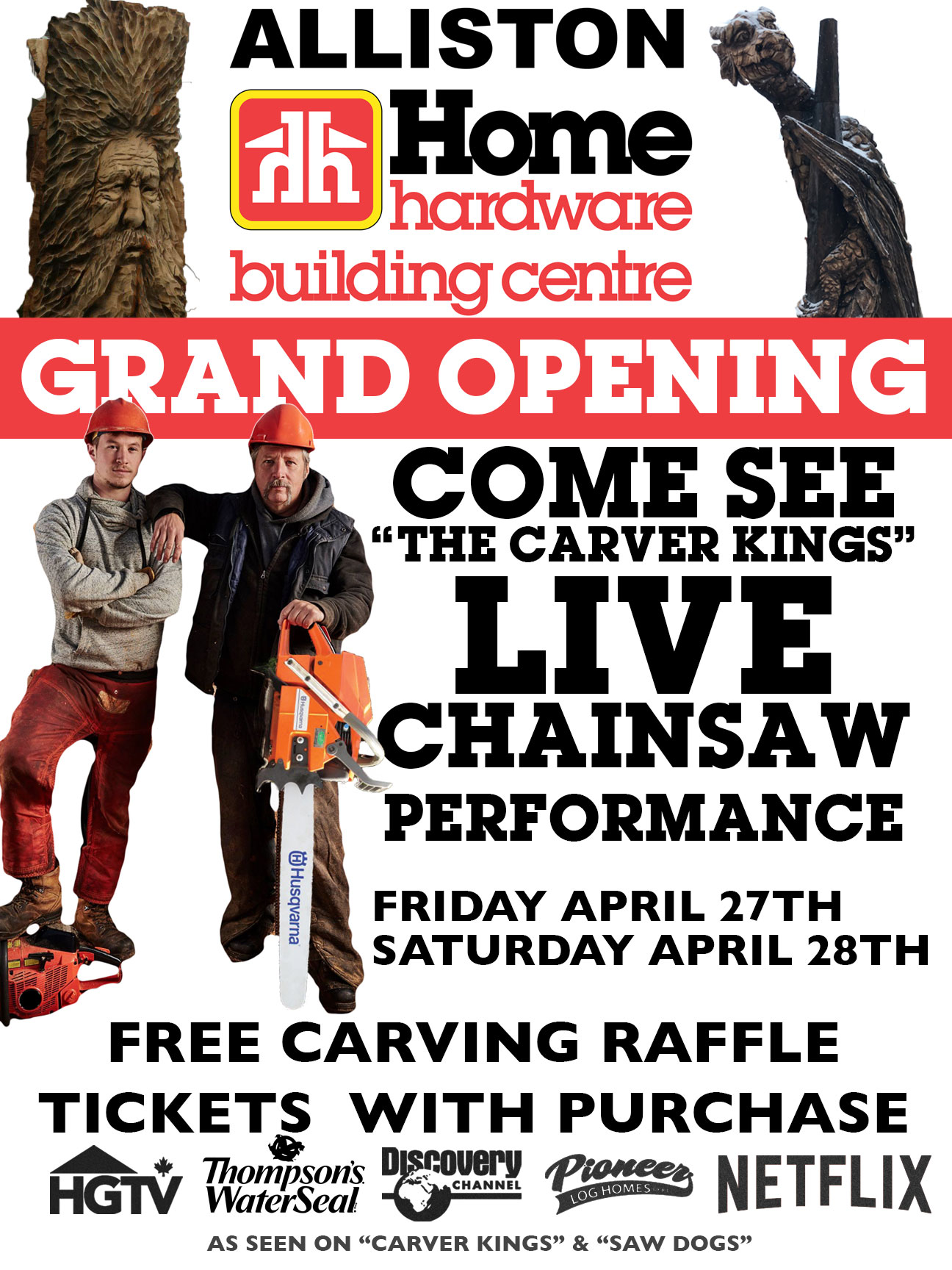 home hardware carver kings event