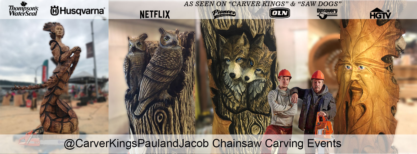 chainsaw carving with Paul Frenette