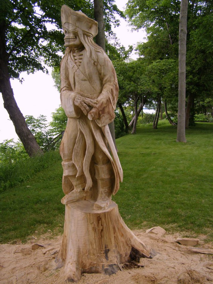 grandbend pirate wood carving